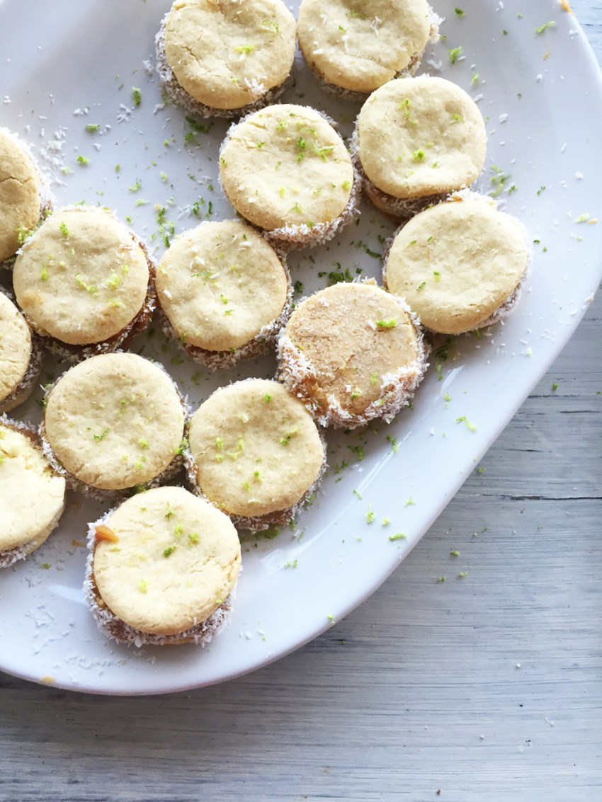 alfajores with lime