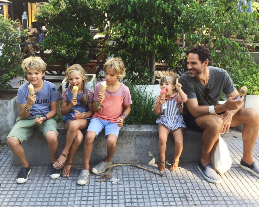 eating ice cream in buenos aires