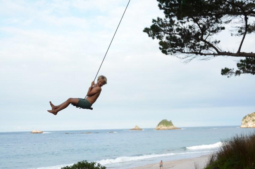 easton on rope swing