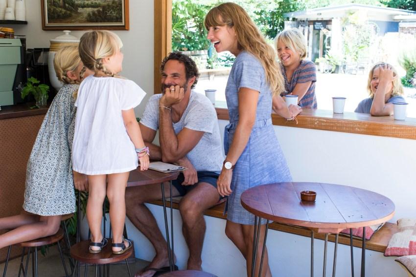 adamo family in woods cafe