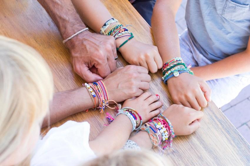 colourful bracelets