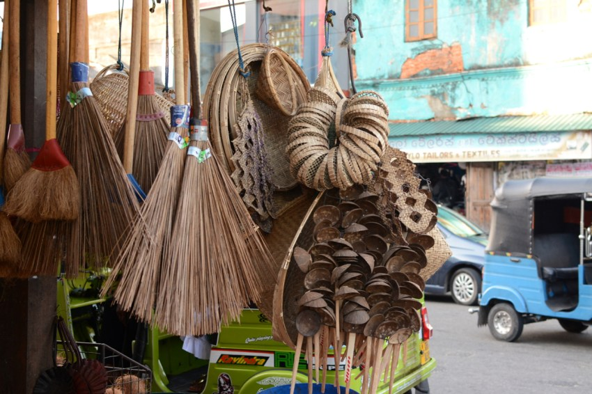 brooms at market