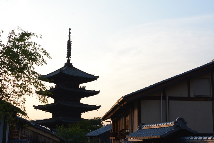 Kyoto Sunset over buildings