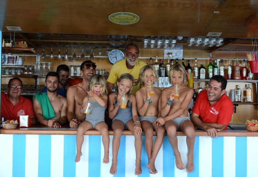 kids and team at Pupetto bar