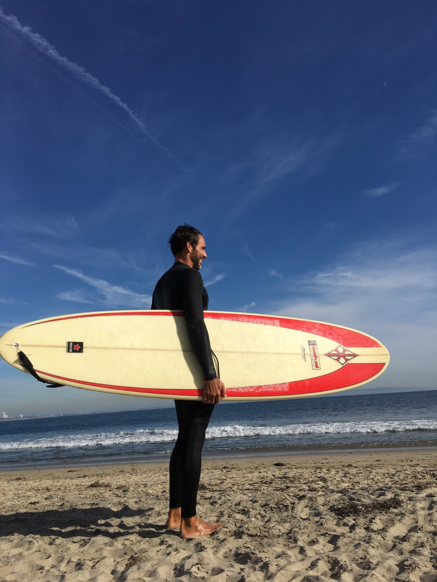michael-and-his-old-surf-board