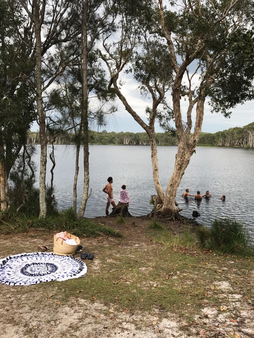 marlows-birthday-swimming-in-the-tea-tree-lake
