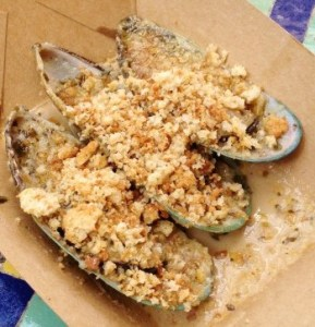 Epcot Food & Wine Green Lip Mussels