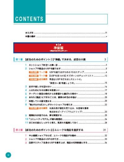 成功する ネットショップ集客と運営の教科書の小目次(第一章)