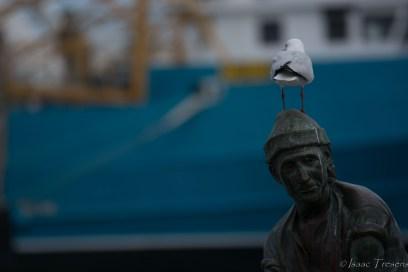 Escultura homenatge al pescador