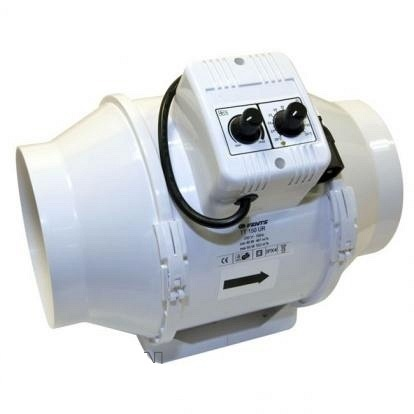 vents tt mixed flow temp speed control fan 100mm inline exhaust and intake fans