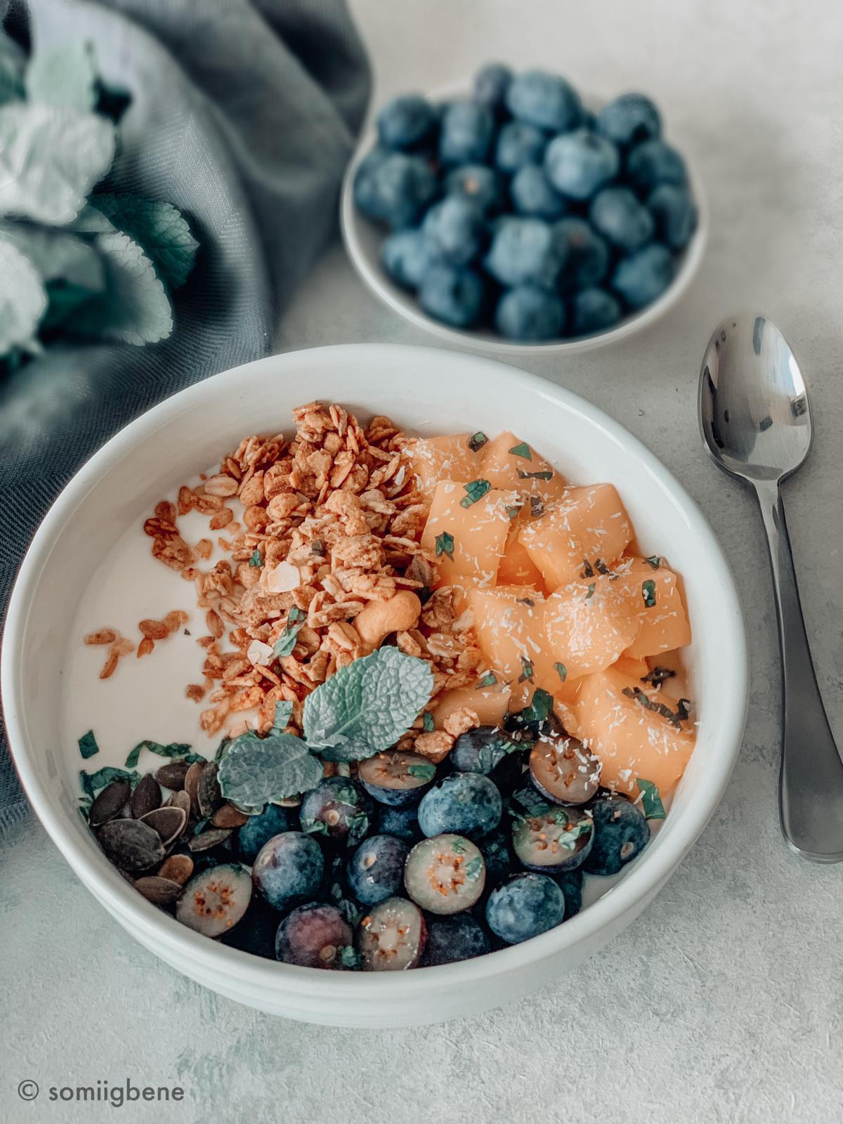 Berry & Mango Granola Breakfast Bowl