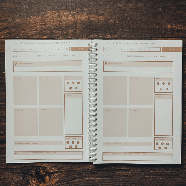 The wellness journal tracking