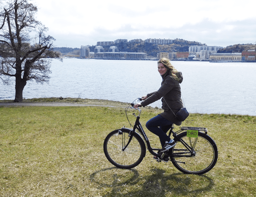 Op de fiets door Stockholm - amy