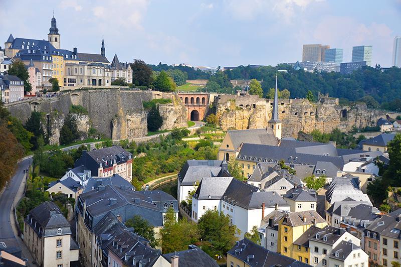 Citytrip Luxemburg - uitzicht vanaf plateau du saint-esprit