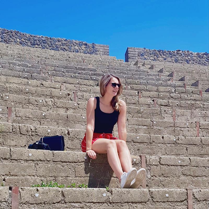 Bezoek aan Pompeï - het grote theater