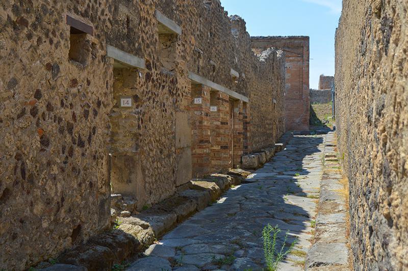 Bezoek aan Pompeï - straat