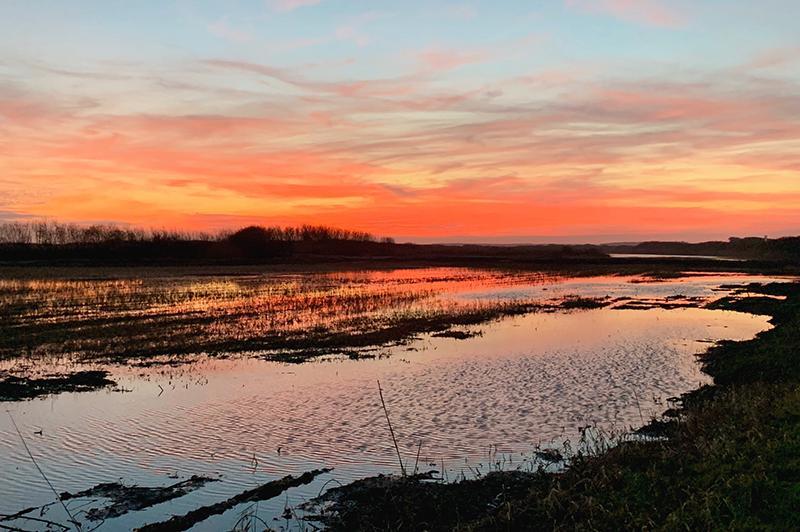Ameland zonsondergang
