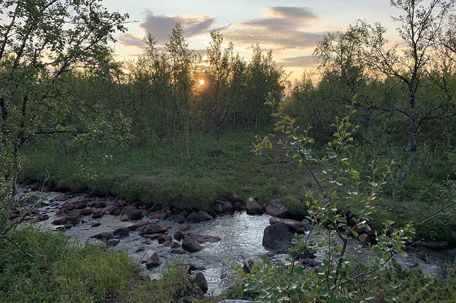 Middernachtzon in Lapland