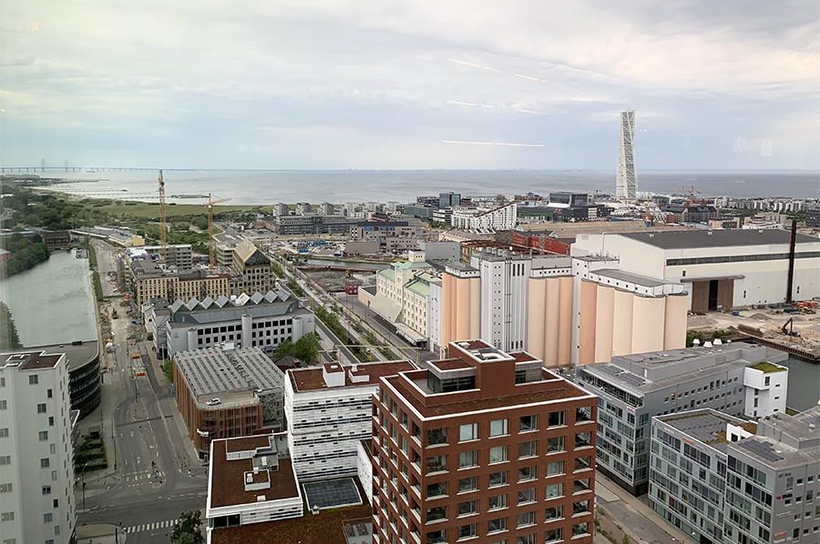 Uitzicht vanuit de skybar Malmö