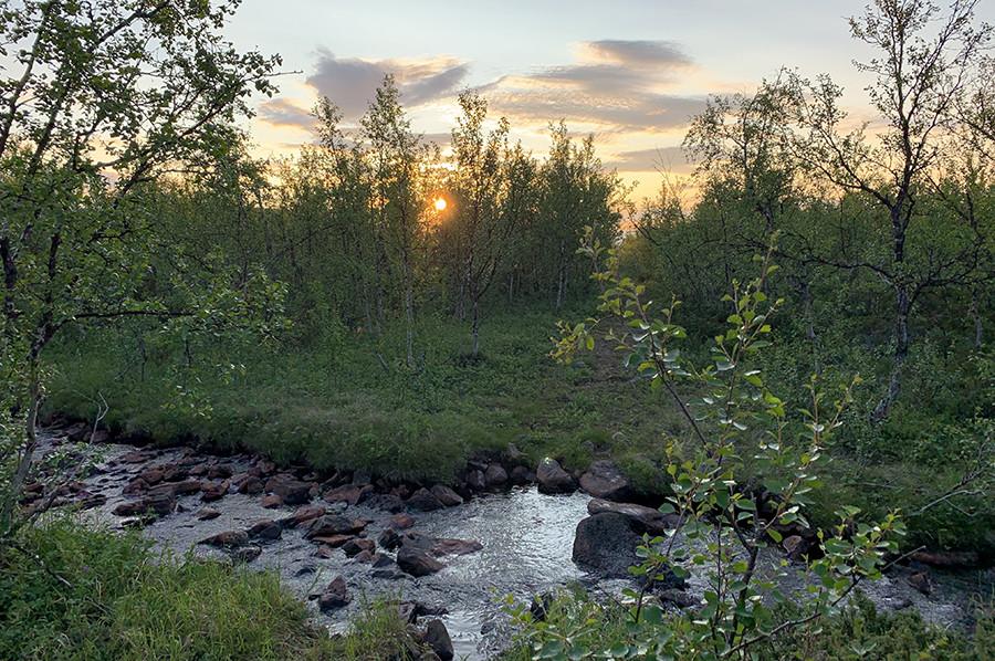 Middernachtzon in Noord-Zweden