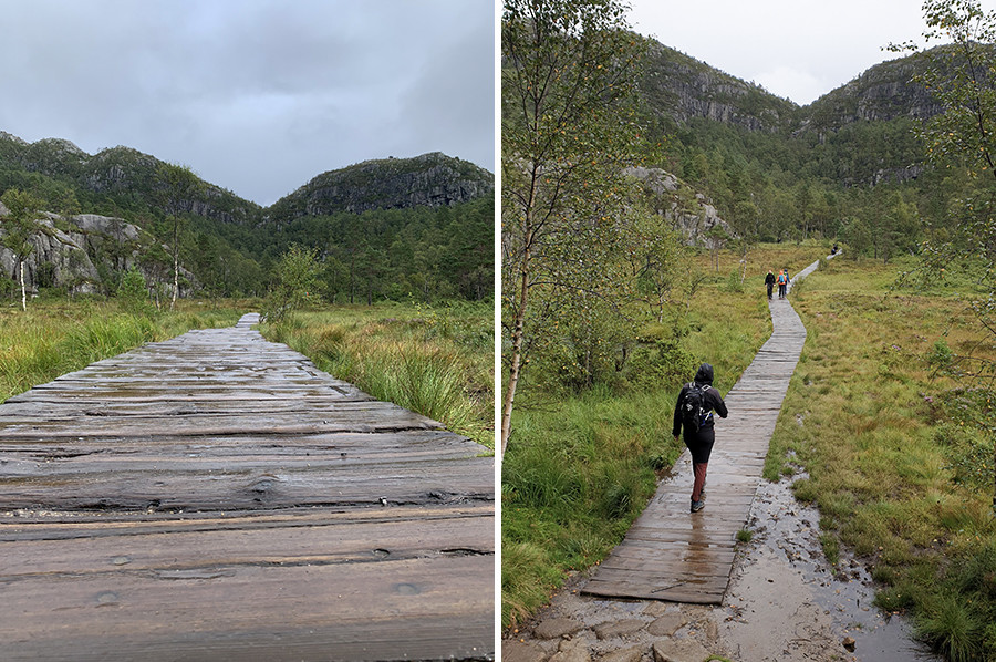 Regen op de Preikestolen hike - sommarmorgon.com