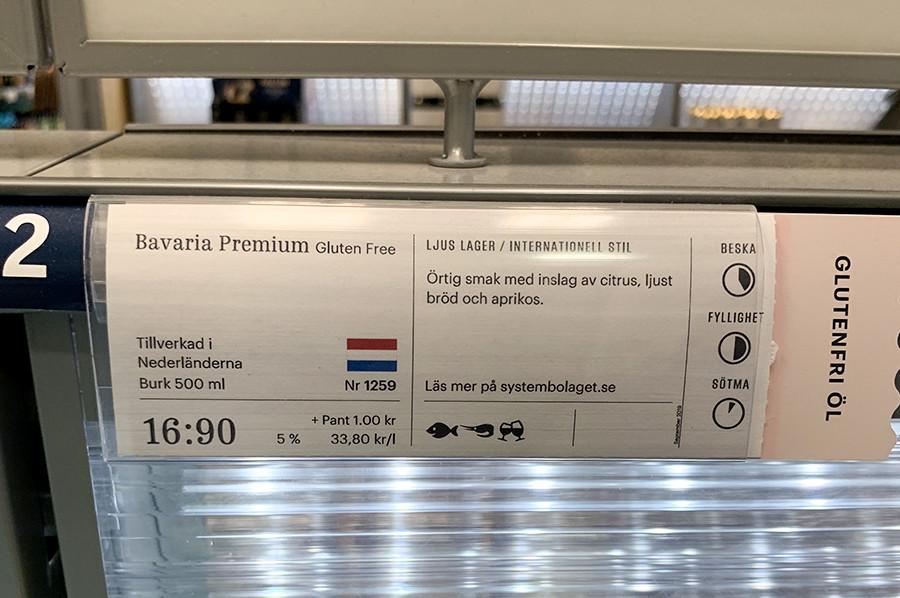 De alcoholprijzen bij Systembolaget - Bavaria - sommarmorgon.com