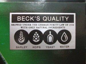 Becks-Reinheitsgebot-label