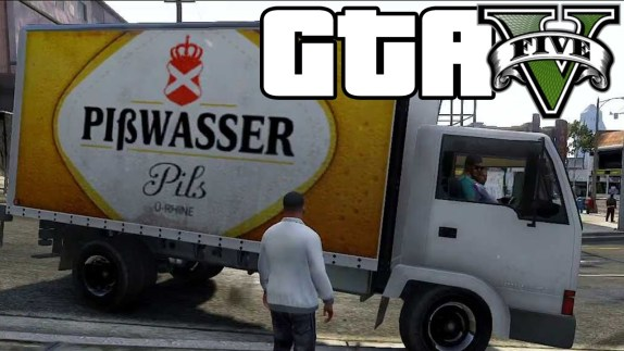 Beer truck from video game GTA V.