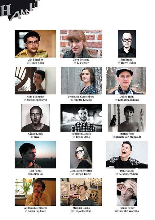 Autoren der Langen Nacht junger deutschsprachiger Literatur und Musik in Hamburg