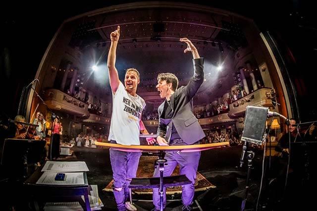 Musik an. Welt aus. Alexander Knappe und Evan Christ (C) Tino Schulz