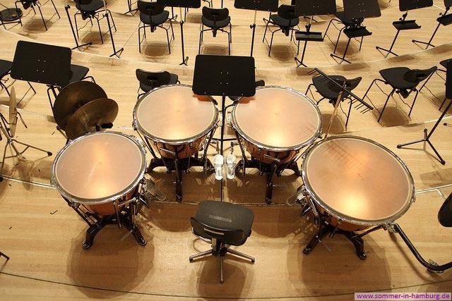 Pauken im Elbphilharmonie-Orchester