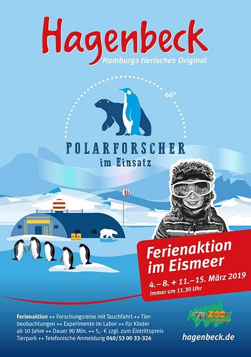 Plakat: Achtung, Polarforscher gesucht!