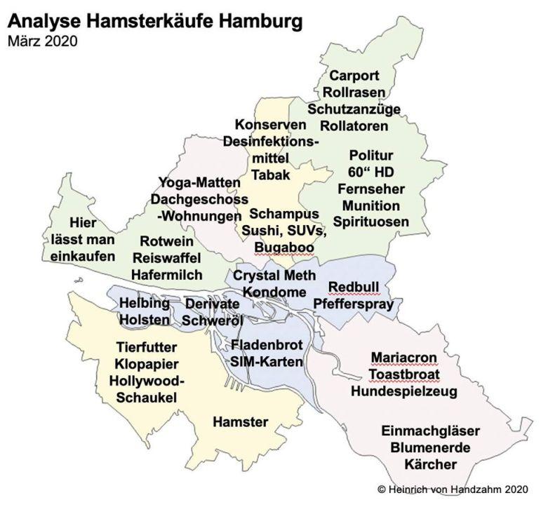 Hamsterkäufe in den Hamburger Stadtteilen