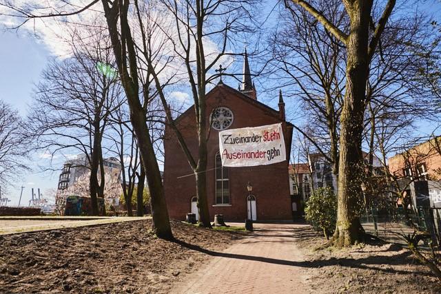 St. Pauli-Kirche im Lockdown