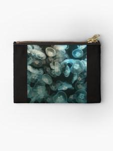 Kleine Tasche mit Quallen-Motiv für Kosmetik I Geldbörse I Studio Pouch I Make up