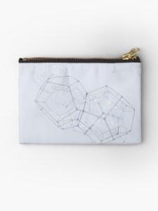 Kleine Tasche I Kosmetiktasche I Geldbörse mit feinen grafischen Formen