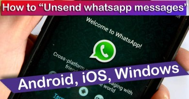 How to unsend message whatsapp on iOS and Android