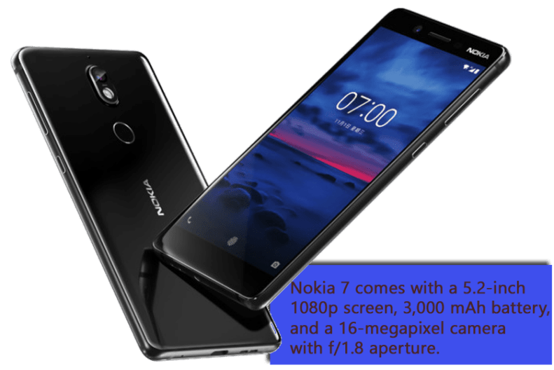 Nokia 7 is officially announced with 4 GB and 6 GB RAM