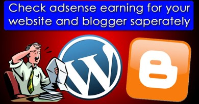 How to know adsense earning of individual blogspot or website(with Picture)