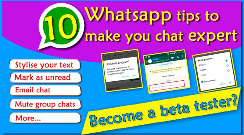 10 Whatsapp tips to make you chat expert