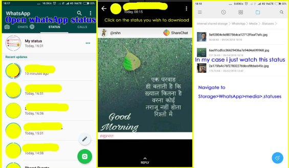 Steps to Download WhatsApp Status Without any 3rd Party App