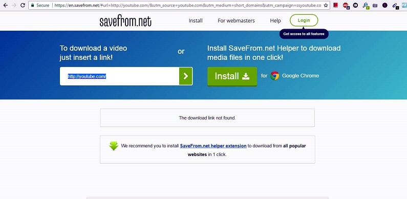 savefromnet save YouTube video directly to your PC or Mobile