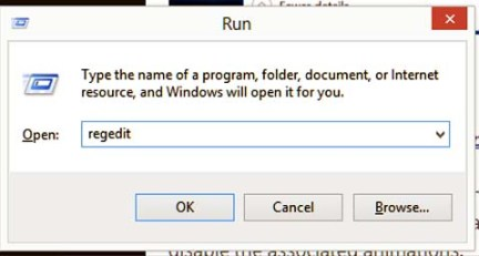 Simply typing regedit in run dialog box(you can access it by pressing windows and R together)