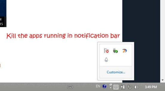 Some programs are designed to stay at your notification bar or system tray(the bottom-right area where clock is displayed).