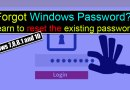 Forgot Windows 8 Password Bypass Windows Password 7,8,8.1 10