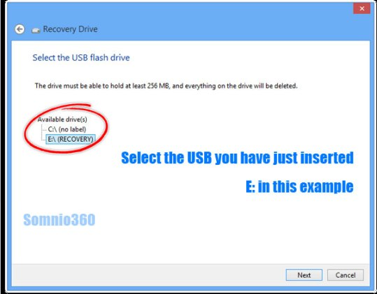 select-recovery-usb