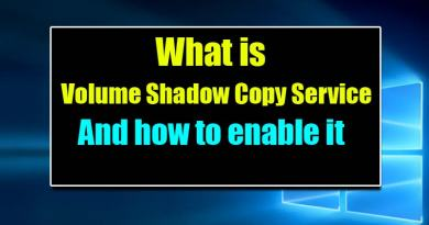 How To Enable Volume Shadow Copy Service for Windows 8/8.1/10