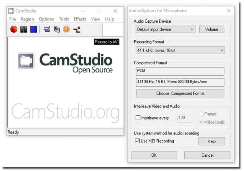 free screen recorder CamStudio