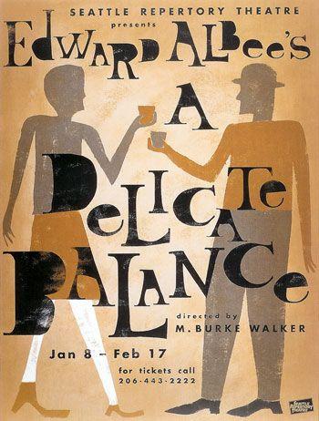 Coberta d'una de les edicions de l'obra A delicate Balance d'Edward Albee.