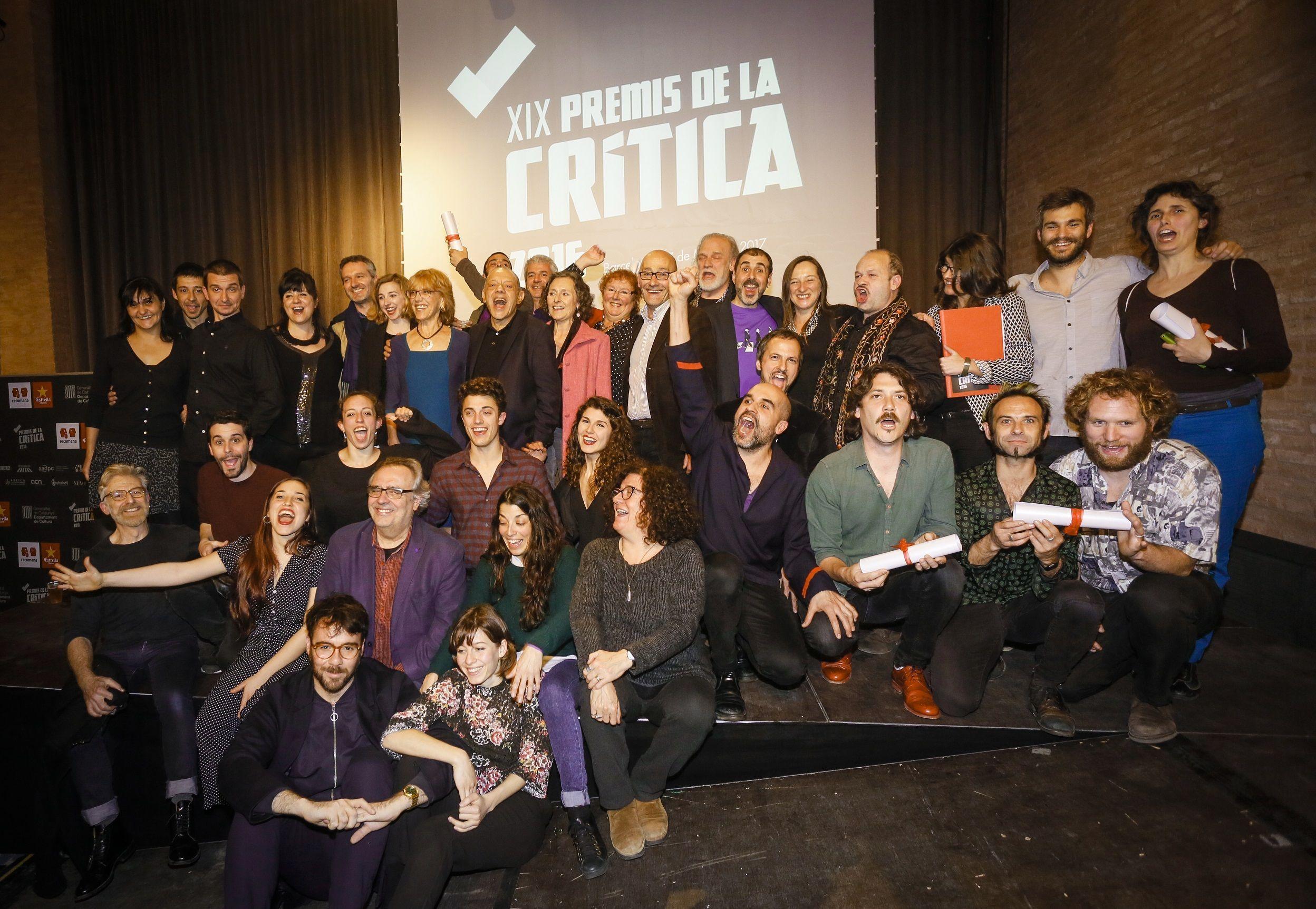 Guanyadors dels premis de la Crítica 2016 ©Martí E. Berenguer